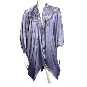 Vintage Natori satin kimono robe